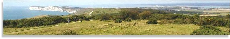 Isle of Wight Holiday Cottage - Brighstone Downs looking West