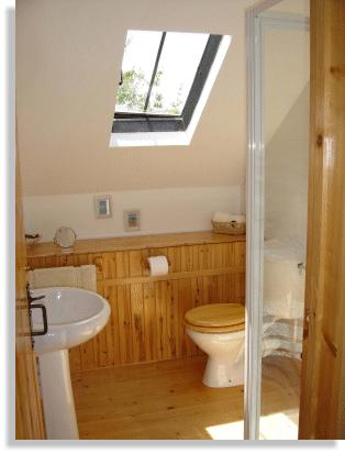 Holiday let shower room and toilet upstairs in holiday cottage